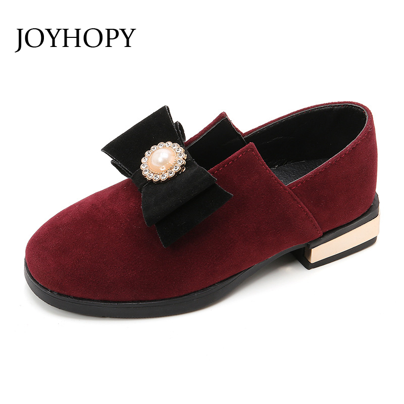 New Fashion 2018 princess single shoes girls Bowknot childrens shoes autumn and spring Kids Flat shoes