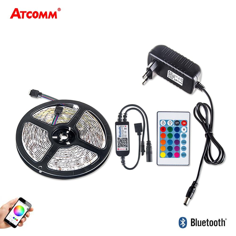 5m Bluetooth 5050 RGB RGBW LED Strip Light With 12V 3A Power Adapter 300 LEDs Home Indoor Livingroom TV Background Decoration цены