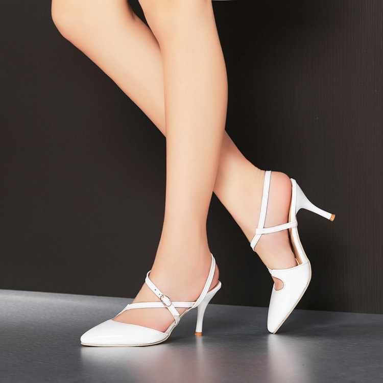 Big Size 11 12 13 wysokie sandały na obcasie damskie buty kobieta letnie damskie szpiczaste opakowanie cingulate palce w porządku z sandałami