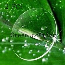 1.56 green coating Custom Myopia glasses Prescription nearsighted lens women men discount glasses lens Optics lens eyewear