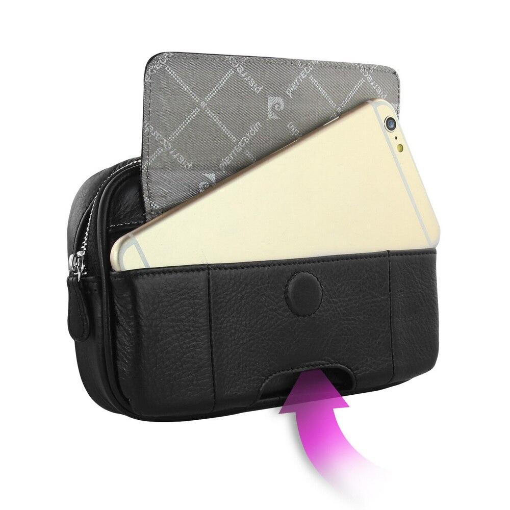 Pierre Cardin étui à Clip ceinture en cuir véritable pour Samsung Galaxy Note 8 9 5 4 coque de téléphone portable sac de téléphone livraison gratuite