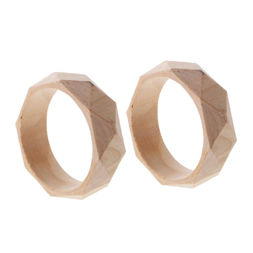 Unfinished wood craft pieces - 2 Pieces 24mm Wide Natural Unfinished Faceted Wooden Bangle Bracelet Diy Wood Crafts China