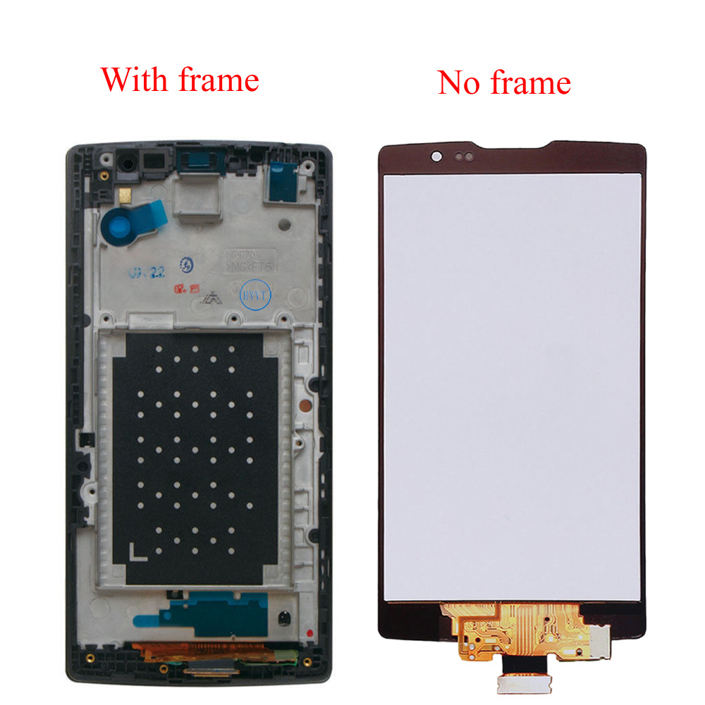 For LG Spirit H442 H440 H422 Black Touch Screen Digitizer Sensor Glass Panel + LCD Display Monitor Screen Panel Assembly Frame
