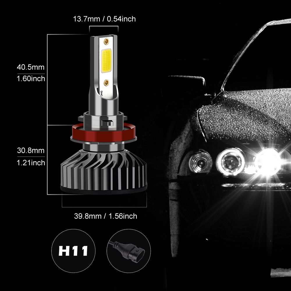 Infitary Canbus Car Headlight H7 LED H4 6500K LED Bulb H11 H8 H1 H3 9005 9006 9007 880 H27 72W 8000LM Auto COB Fog Light Lamp