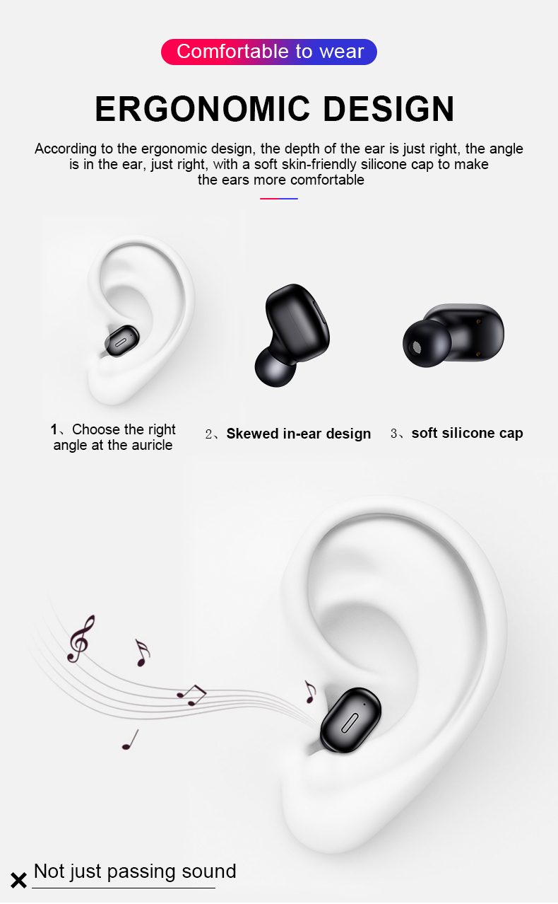 HTB1UccqaiDxK1Rjy1zcq6yGeXXaD Mini T1 TWS V5.0 Bluetooth Earphone 3D True Wireless Stereo Earbuds With Mic Portable HiFi Deep Bass Sound Cordless Dual Headset
