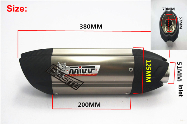 Italy Mivv Modified motorcycle exhaust pipe Z800Mivv devil Duc*ti Monster 796 modified exhaust pipe цена