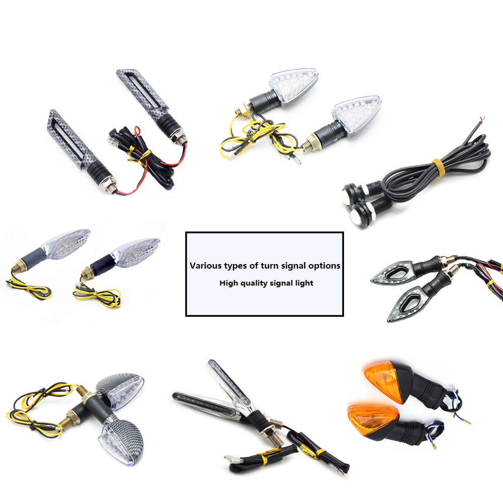 For SUZUKI GSX750 GSX1000 GSX1250 GSX1400 GSX650F GSXR Motorcycle Turn Signals LED Turn Signal Light Amber Indicators Flashers