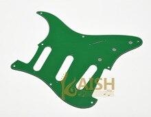 USA Vintage 8 Hole ST Guitar Pickguard Scrach Plate Green 3 Ply