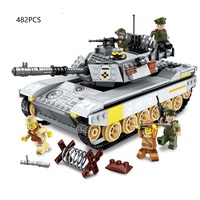 2 types tank Destroyer legoed tech Building Blocks War series Compatible with legoings Duplo toys for children