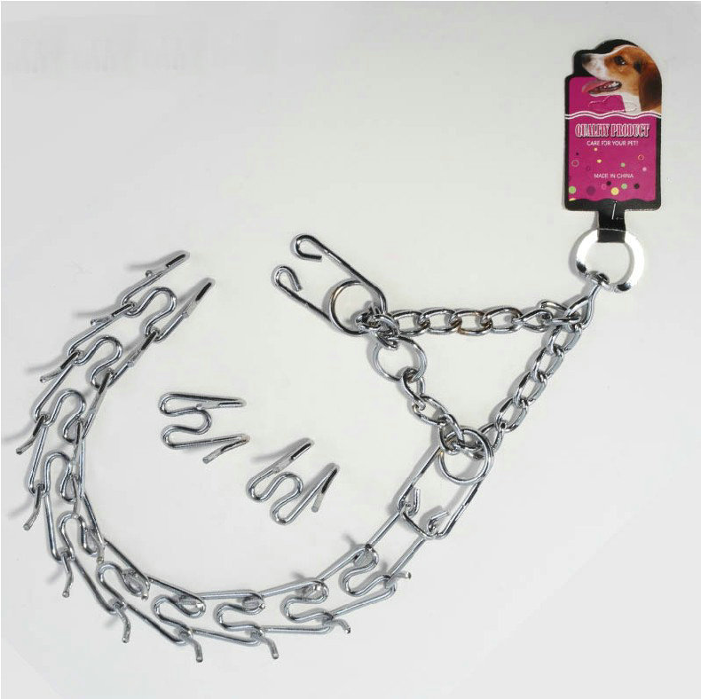 Show Quality Stainless Steel Detachable And Adjustable XL Size Dog Choke Chain, Pinch Collar For Big Pets With Great Sureface