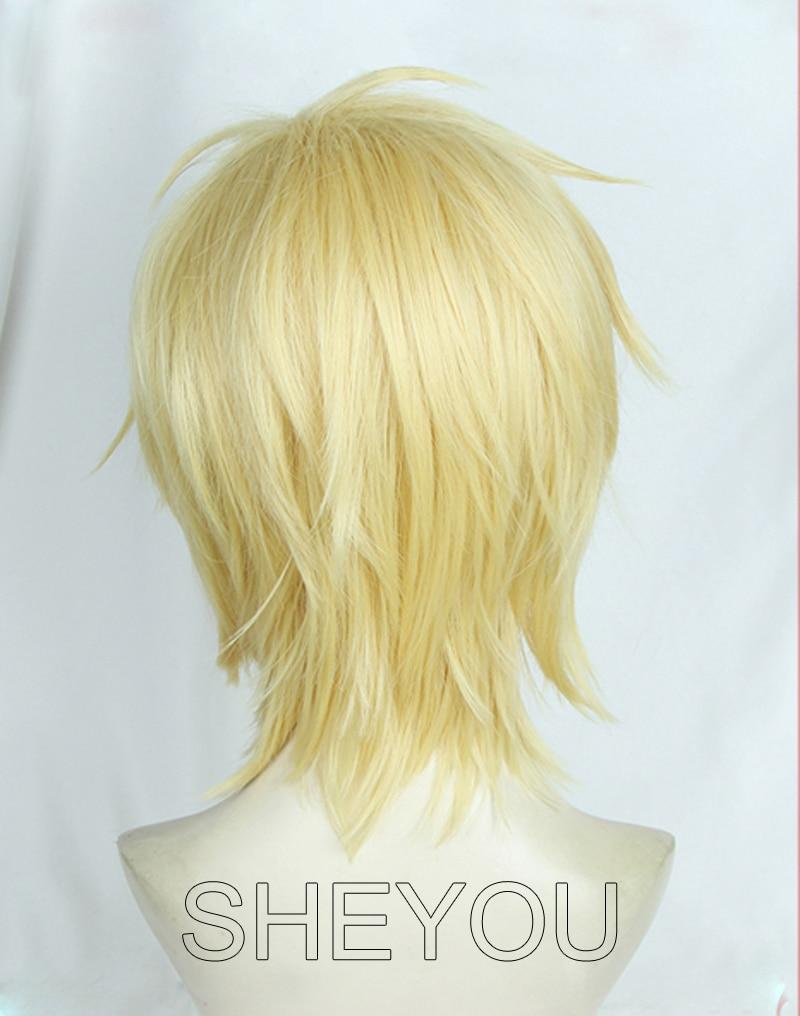 Anime BANANA FISH Ash Lynx Wigs Aslan Jade Callenreese Heat Resistant Cosplay Wig + Track No. + Wig Cap