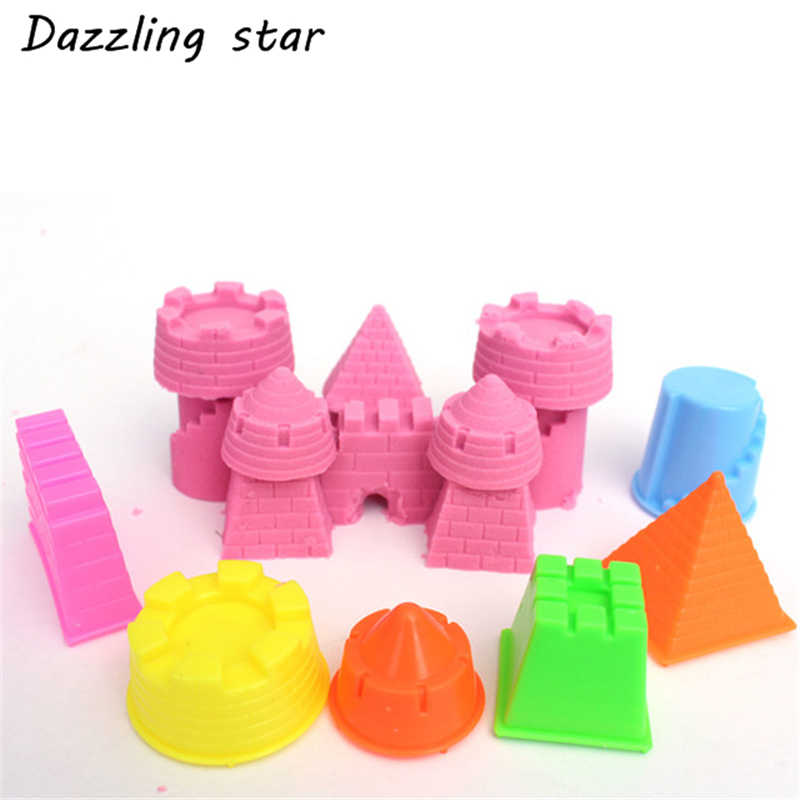 6Pcs/Set Baby Child Kid Model Building Kits Portable Castle Sand Clay Mold Building Pyramid Sandcastle Beach Sand Toy