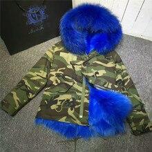Reversible Women fox fur inside jacket real fur parka outwear thick warm furs winter Mr coat