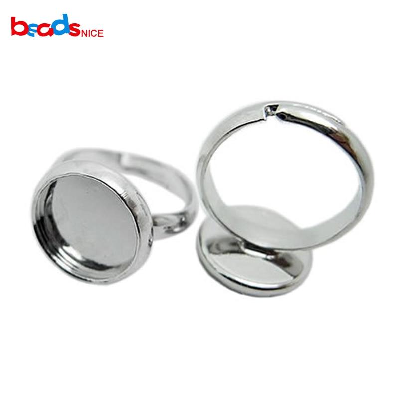 Bulk 20pcs Ring Setting Blank 12mm Bezel Adjustable rings