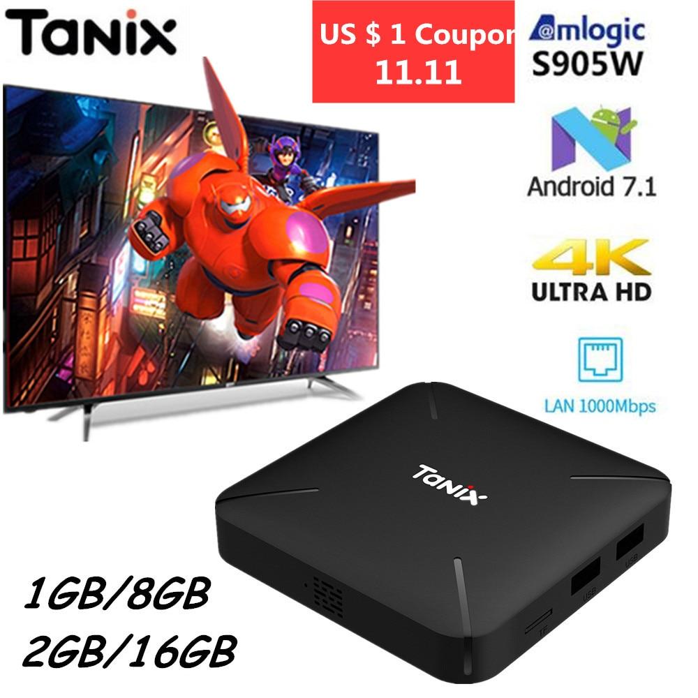 все цены на Tanix TX3 Mini L Smart TV Box Android 7.1 Amlogic S905W 4K TV Box 2GB 16GB H.265 2.4G WiFi 100Mbps Quad Core Smart Media Player