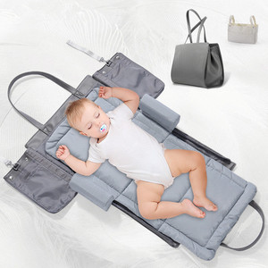 Image 5 - נייד מיטת מיטת תינוק מיטה רב תכליתי מתקפל לחץ עמיד מזרן נסיעות Bebe מיטת שינה תיק חיתול שינוי