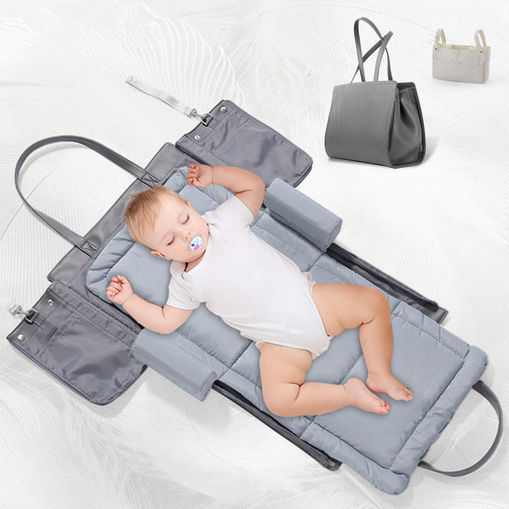 Portable Bed In Bed Baby Bed Multifunctional Folding Pressure Resistant Mattress Travel Baby Bed Sleeping Bag Diaper Changing-in Diaper Bags from Mother & Kids