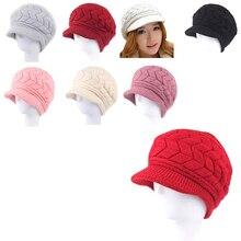 Invierno Caliente mujeres sombrero lujo hechos punto sombreros femeninos  suave elástico suave caliente gorras gorros sombrero 84b3907a840