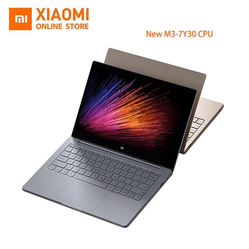 New Xiaomi Mi Laptop Notebook Air English Windows 10 Intel Core M3-7Y30 CPU 4GB DDR3 RAM Intel GPU 12.5 inch display SATA SSD