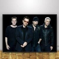 U2 Искусство Шелковый плакат домашний декор 12x18 20x30 дюймов