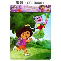 Giáo dục cho trẻ em đồ chơi câu đố 48 cái của đồ chơi câu đố phim hoạt hình Dora đôi món quà sinh nhật