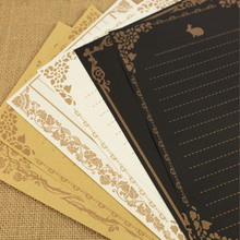 8 sheets/set European Vintage Style Writing Paper Culture Stationery Kraft Letter
