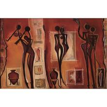 Wall art картина маслом на холсте абстрактные картины в африканском стиле Стиль фигура женщины работа ручная роспись Гостиная Декор