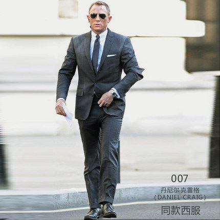 High quality Custom Made Men Grey Suit 2015 Slim Wool Made Tuxedos ...