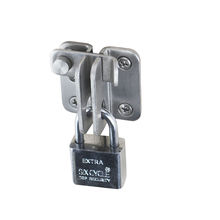 цена на Stainless steel safety wooden door latch buckle lock lock left and right open door lock bolt hardware Furniture accessories