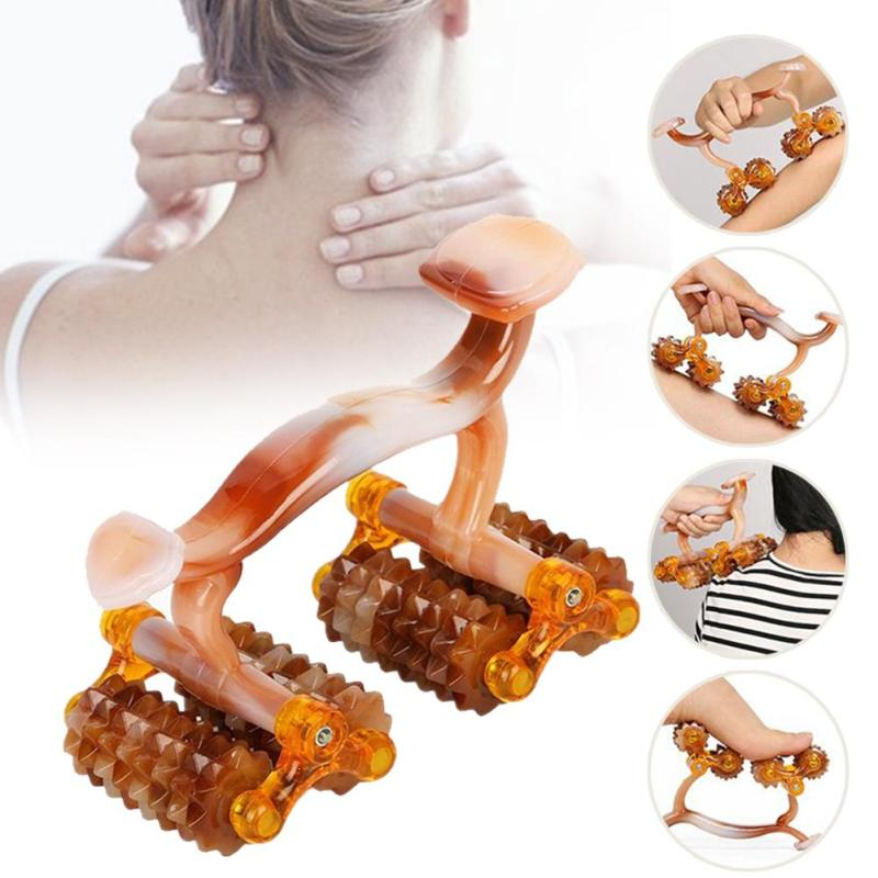 1PC Roller Massager Pilates Fitness Sports Yoga Training Cellulite Legs Neck Trigger Point Stick Body Pain Slimming Tool U4 elite fitness massager roller stick trigger point muscle roller exercise therapy releasing tight body massage tool gym rolling