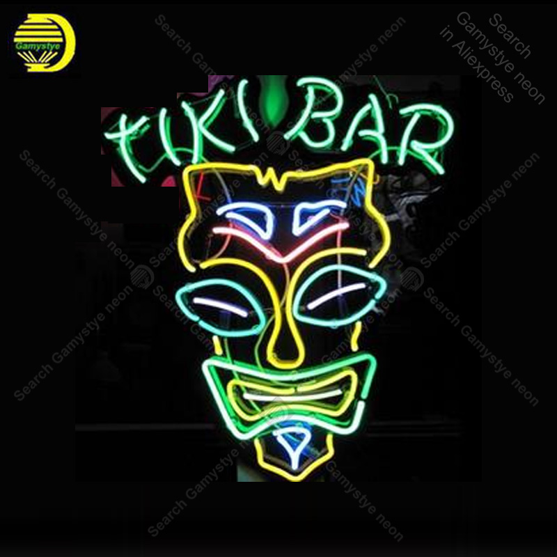 Neon Sign Tiki Bar Neon Signs Real Glass Tubes Beer Neon Bulb Signboard custom lighted with Plastic Board neon lights for sale|Neon Bulbs & Tubes| |  - title=