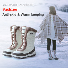hot deal buy women winter walking boots ladies snow boots waterproof anti-skid skiing shoes women snow shoes 3m thinsulate  for-40c