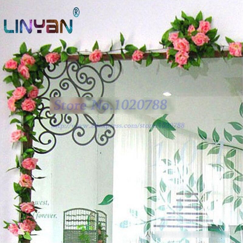 [2 PCS] Rose Flower vine Wedding & Home decoration Silk