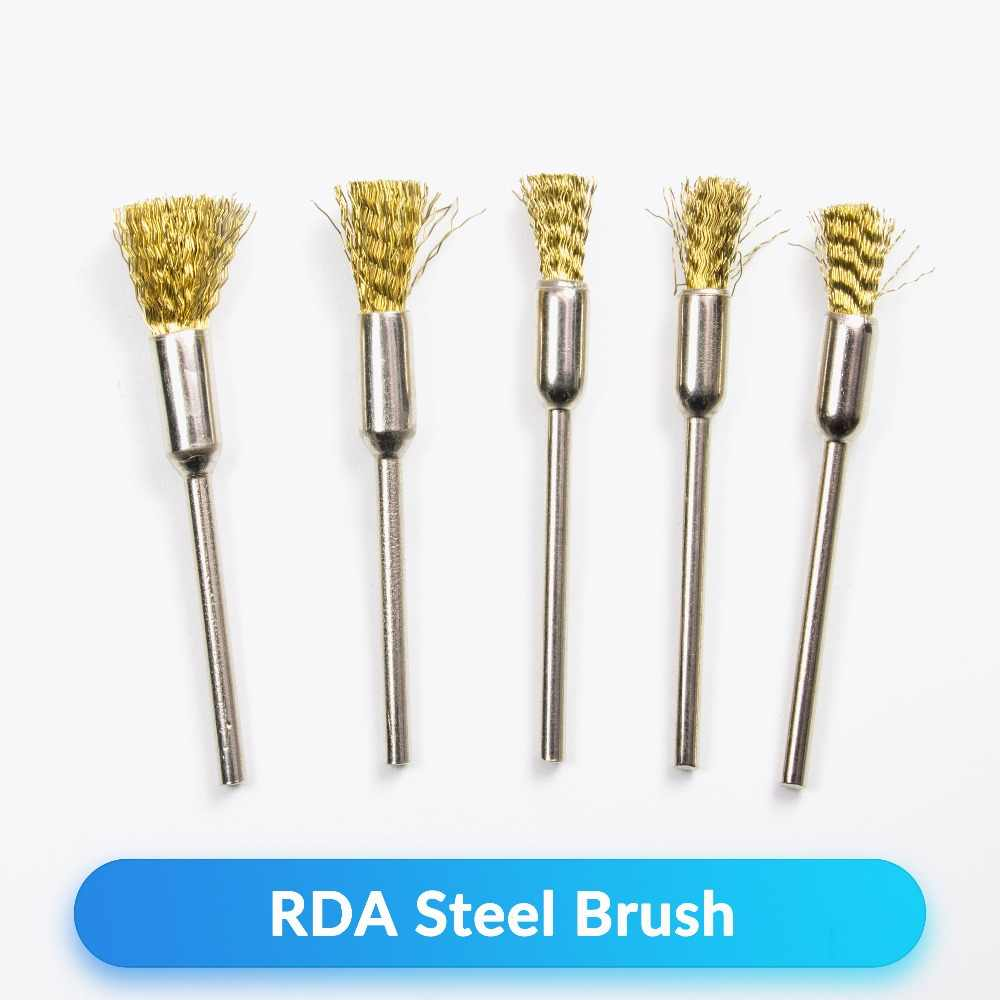 Quartz Banger 5pcs Cleaning Steel Brush Coil DIY Tools E Cigarettes for RDA RTA Atomizer Vape DIY Heating Coil Wire Accessories