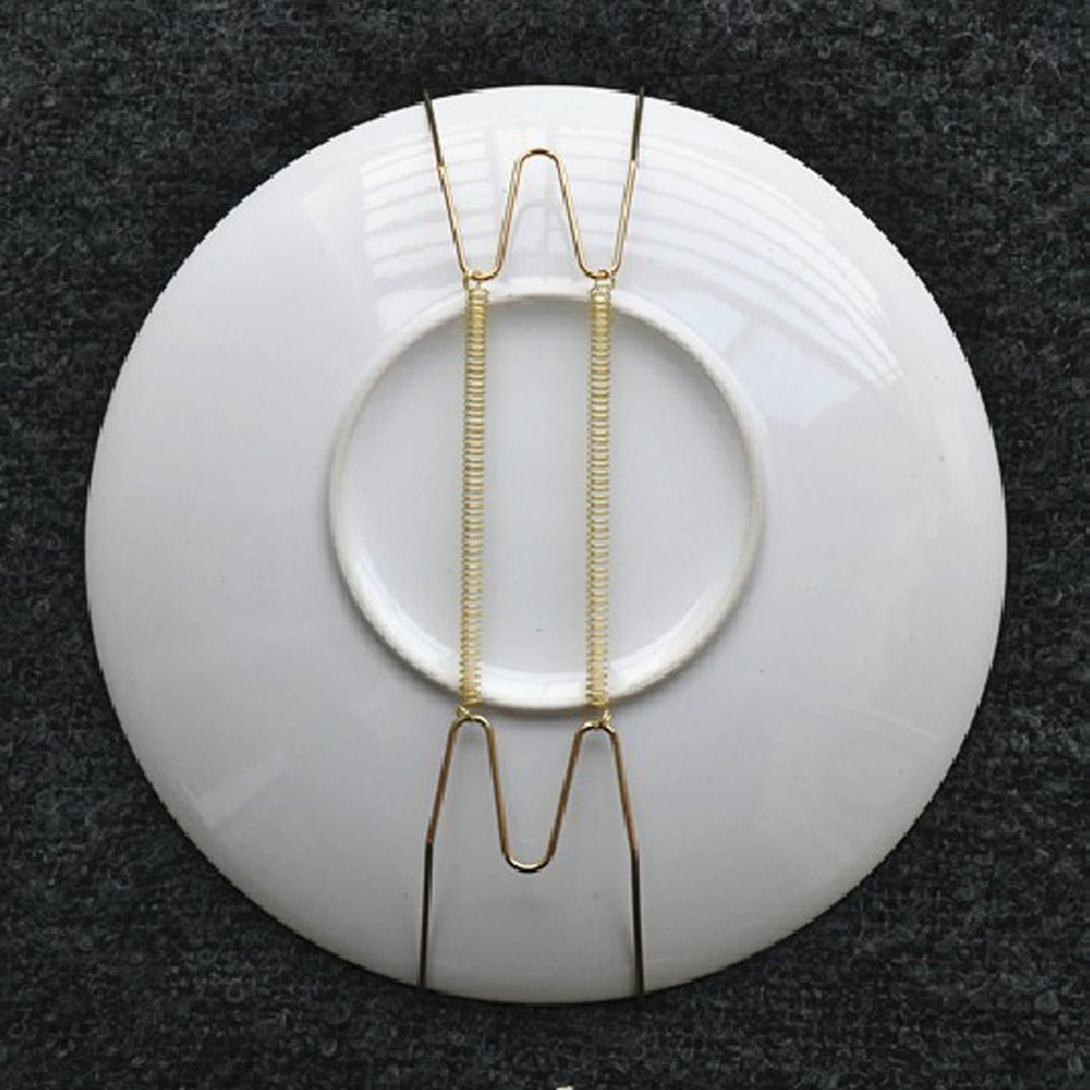UESH-10 pcs 8-inch plate holder plate hanger plate pallets wall : decorative plate hanger - pezcame.com