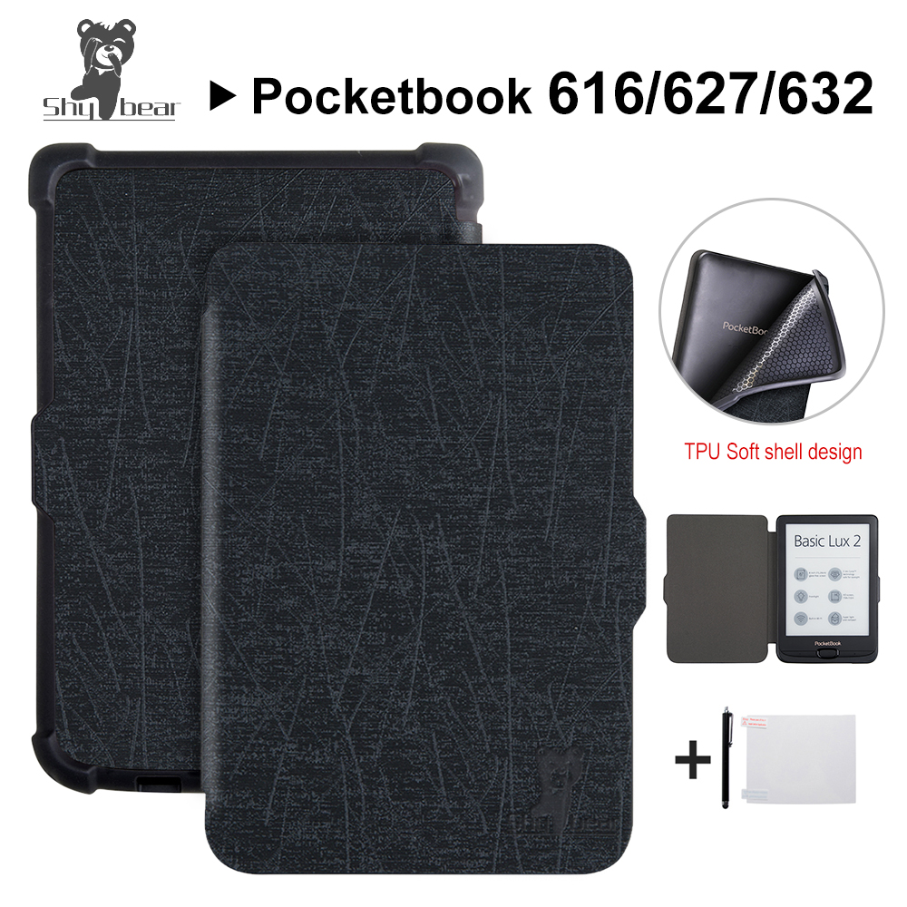 Shy Bear Case for Pocketbook 616/627/632 6'' Notebook Case for Lux4 Touch hd3 for Basic Lux2 Book Touch TPU Protective Case+Gift eunavi 8 led night vision car rear view camera universal backup parking camera waterproof shockproof wide angle hd color image