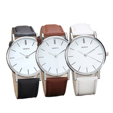 Freeshipping Fashion2015 New Hot Brand  Watch For Mens / Women Fashion Casual Quartz-Watch Leather Watch 40mm Relojes LJ Watches