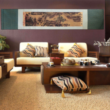 лучшая цена ShaoFu Silk Scroll Painting Chinese Traditional Famous Paintings Art Simulation Creative Wall Picture Painting Home Decoration