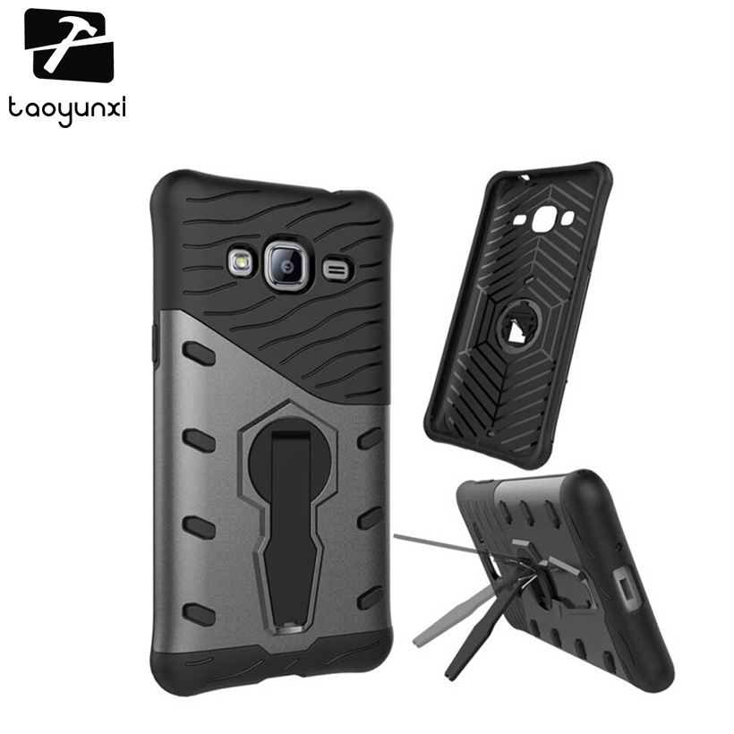 Galleria fotografica TAOYUNXI Armor case with Support functions Cases For Samsung Galaxy j3 2016 J300 SM-J320 5.0 inch J300F J3000 cases covers skin