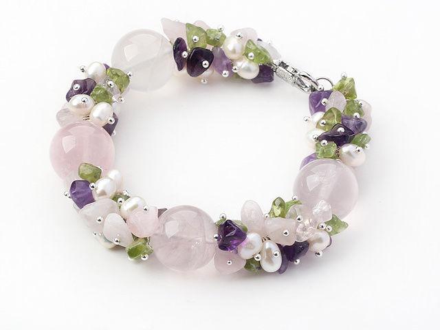 Chunky Big FreshWater Pearl Natural stone for women Bracelet Handmade Statement
