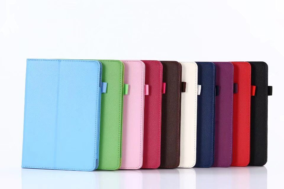 все цены на  Ultra Slim Litchi Grain 2-Folder Folio Stand Protective Skin PU Leather Cover Case For Apple iPad Mini5 Mini 5 Generation Tablet  онлайн