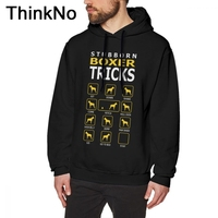 Stubborn Boxer Dog Tricks Funny sweatshirt Long Sleeve For Male Soft Homme Fashionable Top design Round Collar Big Size