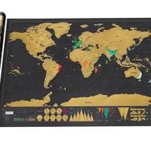 Роскошный черный Скретч Карта мира Лучший Декор школьные офисные канцелярские принадлежности
