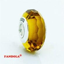 Murano Glass Beads fit Pandora pulseras Originales 100% Auténtica Plata de Ley 925 Encantos de La Joyería DIY Al Por Mayor 5003 k