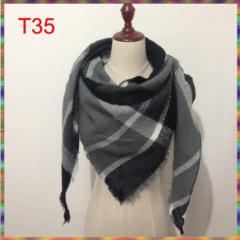 Triangle Scarf 2017 Fashion Wholesale Spring Brand Women acrylic Cashmere  Designer Winter Shawl Blanket Foulard Drop