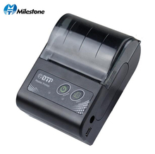 Milestone 58MM Mini Bluetooth Printer Thermal Portable Wireless Receipt bill ticket Android IOS Pocket Printer small MHT-P10 цены онлайн