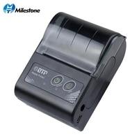 Milestone 58MM Mini Bluetooth Printer Thermal Portable Wireless Receipt bill ticket Android IOS Pocket Printer small MHT P10