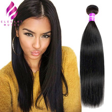 ELEGANT Straight Hair Weave Bundles Peruvian 100% Human Hair Bundles 1pc Natural Non Remy Hair Extensions 3 or 4 Bundles Can Buy(China)
