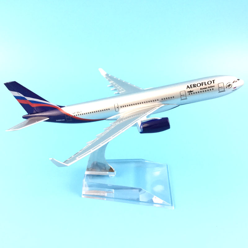 16cm Alloy Metal Air Aeroflot Russian Airlines Airbus 330 A330 Airways Airplane Model Plane Model W Stand Aircraft Gift phoenix 10596 a330 200 b 6538 chinese eastern airlines skyteam no 1 400 commercial jetliners plane model hobby
