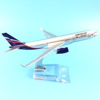 16cm Alloy Metal Air Aeroflot Russian Airlines Airbus 330 A330 Airways Airplane Model Plane Model W Stand Aircraft Gift 40cm a330 resin aircraft model sichuan airlines airplane model airbus airways china sichuan air aviation model stand craft a330